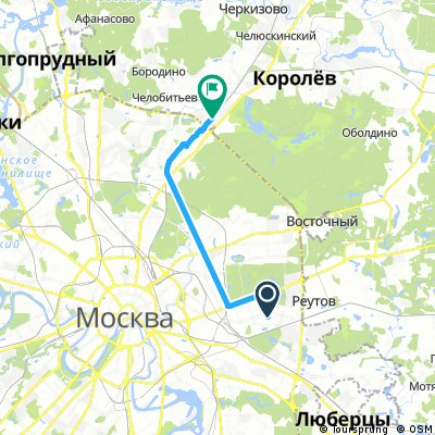 ride from Москва to Мытищи