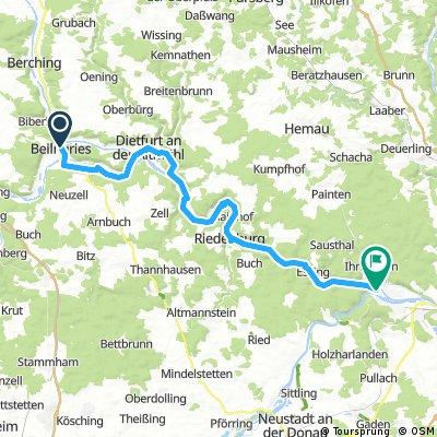 Lange Radrunde durch Kelheim