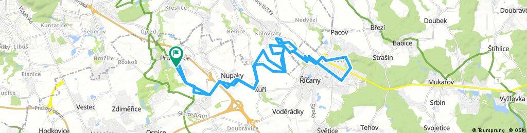 Lengthy bike tour through Průhonice