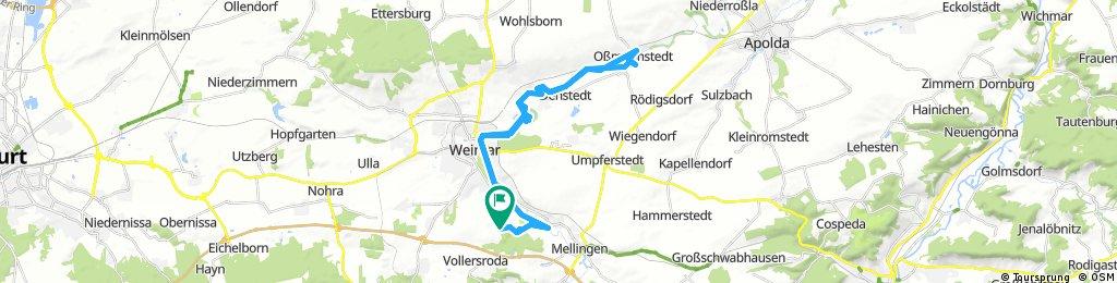 Lange Ausfahrt durch Weimar