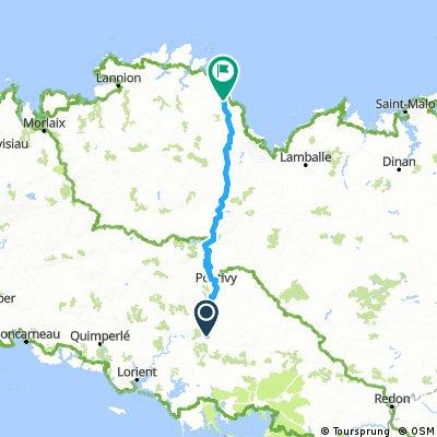 Baud - Quintin - Plouha  112 km