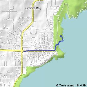 Brief bike tour through Granite Bay Bikemap Your bike routes