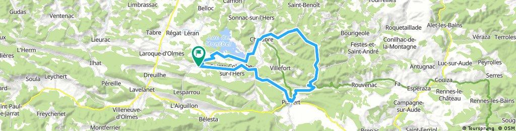 44k Le Peyrat-Chalabre-Col du Tuquet - Puivert