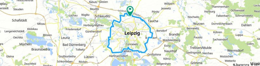 Innerer Grüner Ring Leipzig - Neue Streckenführung 2014