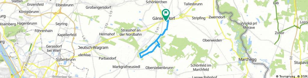 Radrunde durch Gänserndorf
