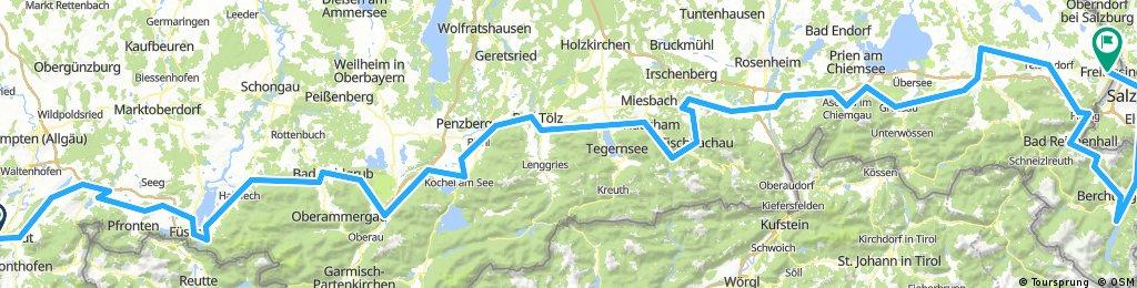 Unsere Bodensee-Königssee-Radweg