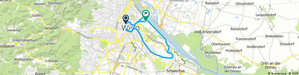 Long bike tour through Vienna