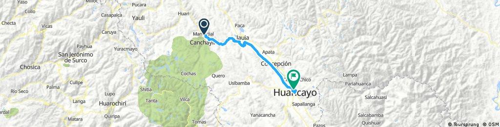 Lengthy bike tour through El Tambo