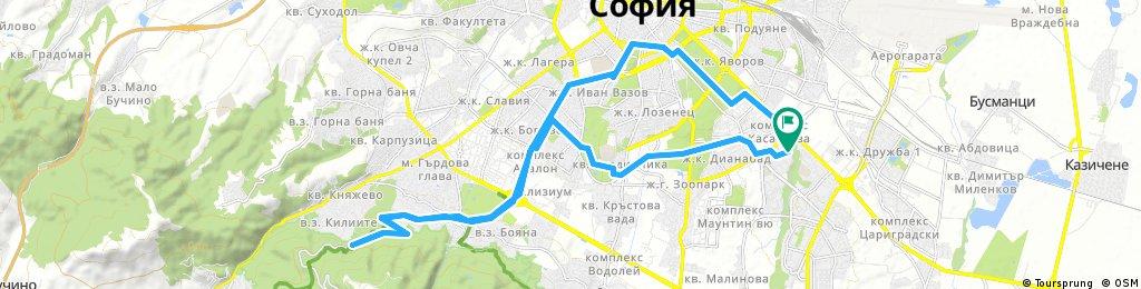 Lengthy bike tour through Sofia