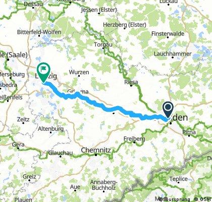 .::BJ::. ||| Morgens halb 10 in Deutschland / Zügige Fahrt! Dresden - Leipzig |||: (via Nossen - Görnitz - Grimma)