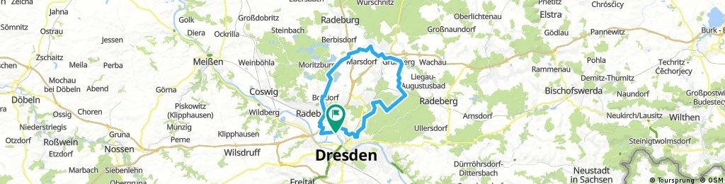 .::BJ::.     Schnelle Melange aus Wald und Flur, Bach und Asphalt    : (via Kaditz - Fiedlergrund - Bärnsdorf - Langebrück - DD Heide)