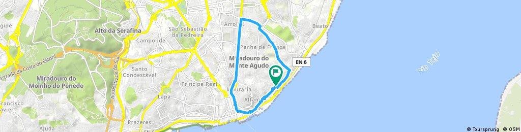 Brief bike tour through Lisboa