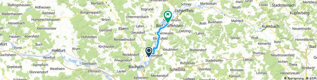 Ausfahrt von Rattelsdorf nach Bad Staffelstein