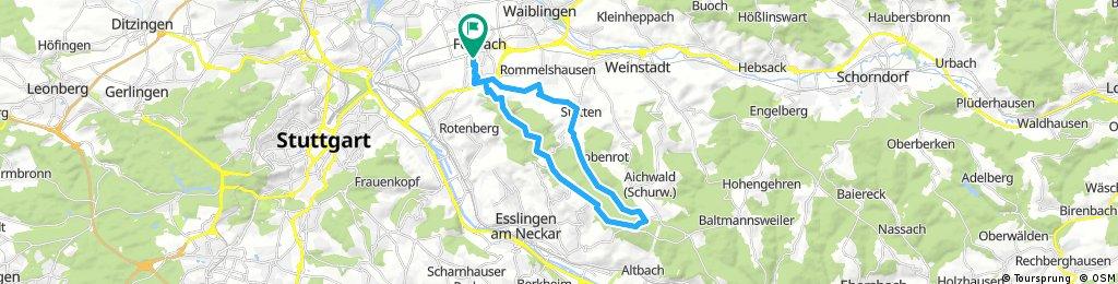 Ausfahrt durch Fellbach