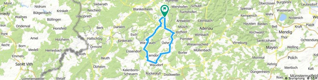 Ahrhütte Nohner Wasserfall Hillesheim und zurück