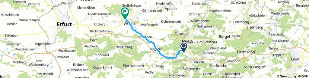 Radrunde Von Jena Nach Weimar