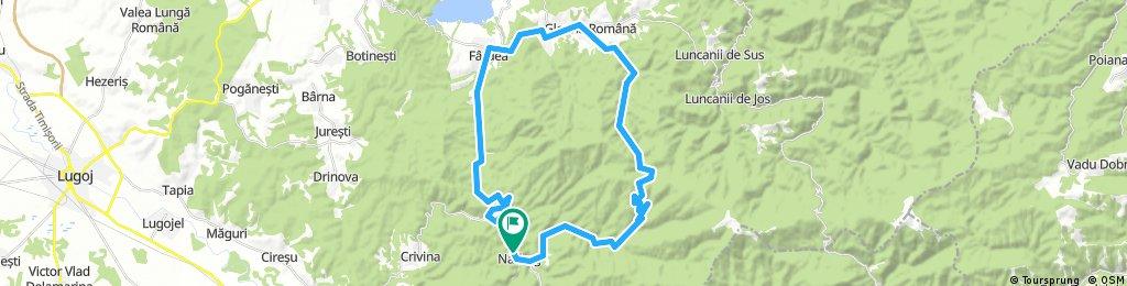 Long bike tour through Nădrag