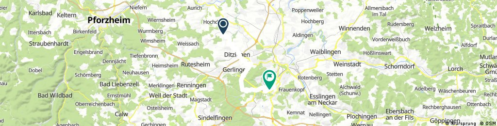 Radrunde von Hemmingen nach Stuttgart