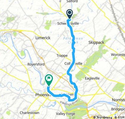 bike tour from Perkiomen to Upper Providence