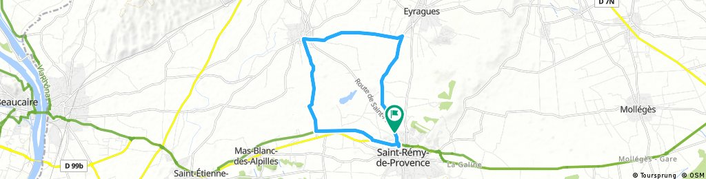 ride through Saint-Rémy-de-Provence