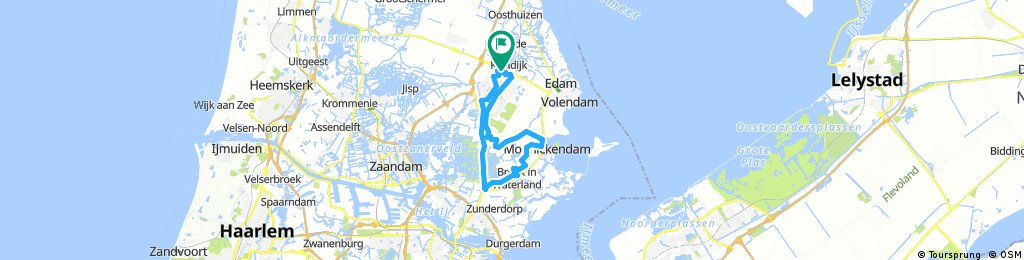 Long bike tour through Purmerend