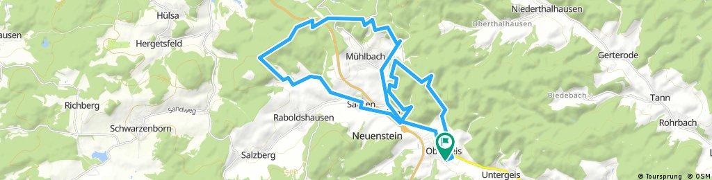 Lange Ausfahrt durch Neuenstein