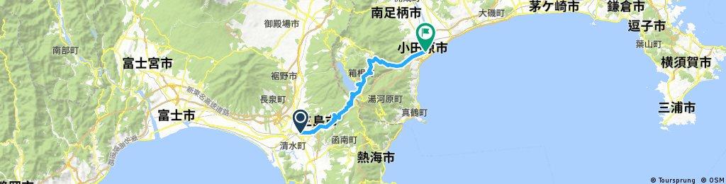 Mishima to Odawara via Lake Ashi