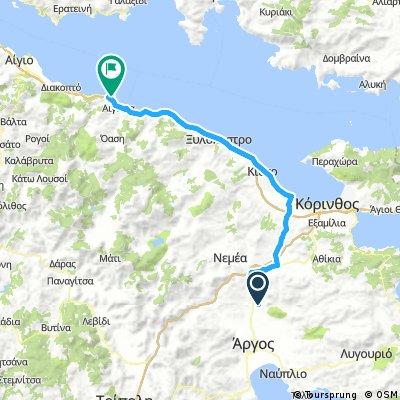 9 Tappa Camping Atreus - Camping Akrata Beach 90 km
