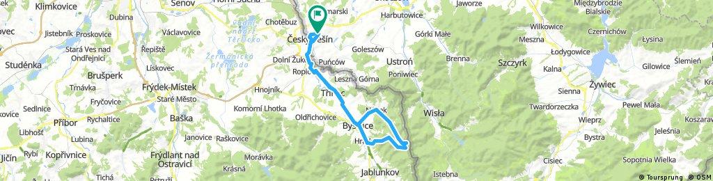 Lengthy ride through Cieszyn