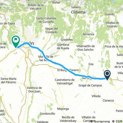 Ledigos to Valverde de la Virgen (León)