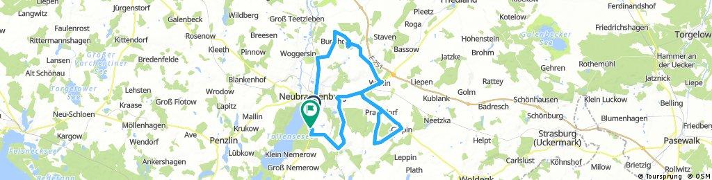 Lange Radrunde durch Neubrandenburg