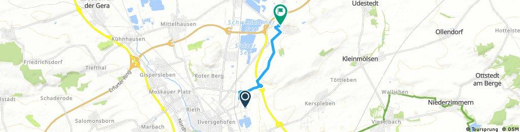 Schnelle Ausfahrt durch Erfurt