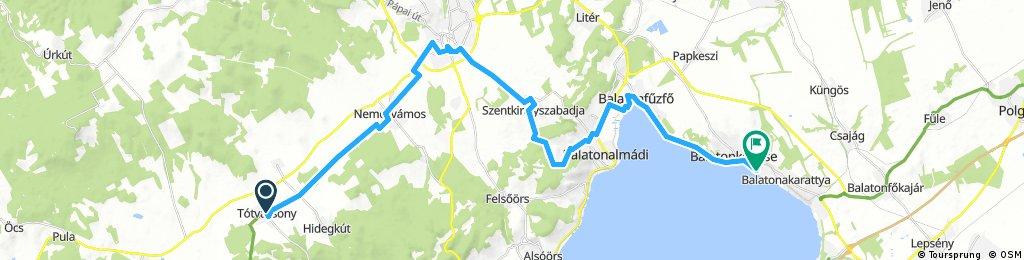 B.füred-Tótvázsony-Nemesvámos-Veszprém-B.kenese