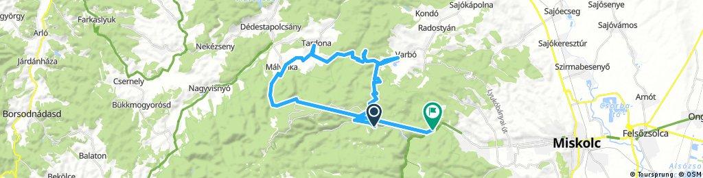 Long bike tour through Miskolc