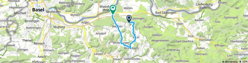 Ausfahrt durch Rheinfelden
