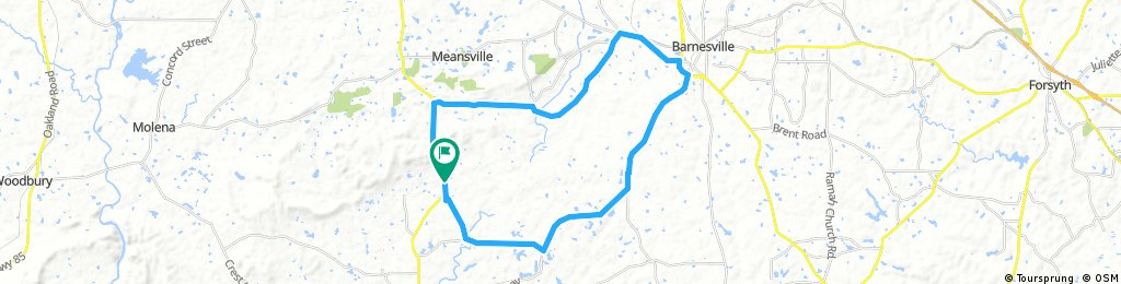 Long bike tour through Meansville