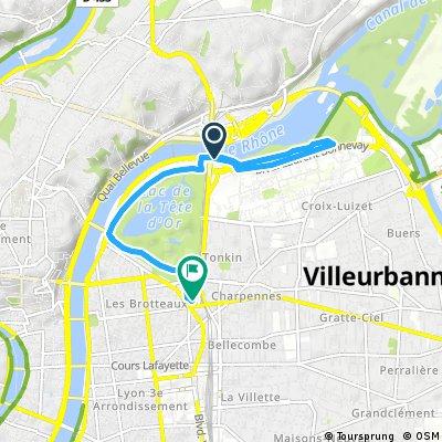 Quick bike tour from Villeurbanne to Lyon