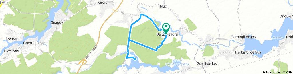 bike tour from Dumbrăveni to Balta Neagră