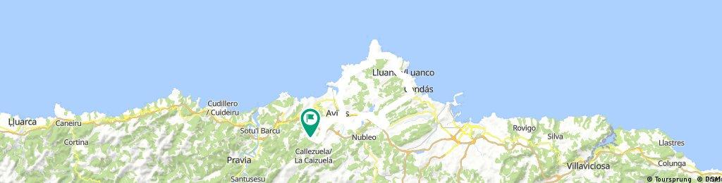 Romadorio - Aviles - Cabo Penas - Luanco - Aviles - Romadorio