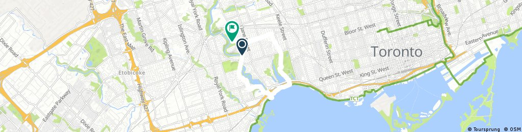 bike tour through Toronto