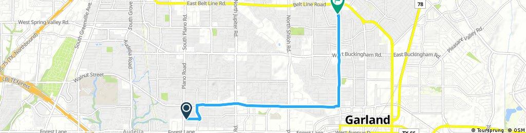 Short bike tour through Garland