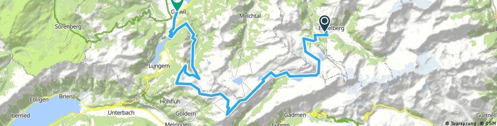 Engelberg - Jochpass - Hasliberg - Gibel - Giswil