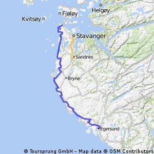 Egersund Stavanger Haugesund ny Bikemap Your bike routes