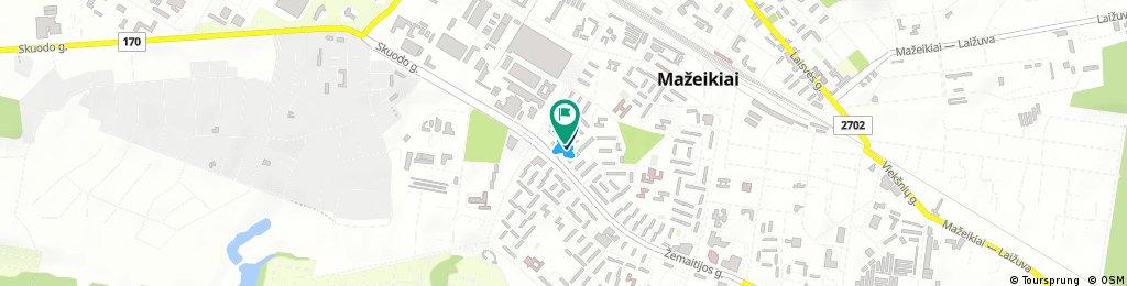 Short ride through Mažeikiai