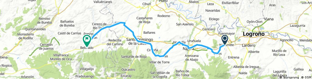 Pilgertour Rad Strecke 04 Logrono - Belorado