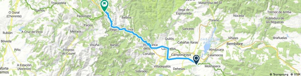 Pilgertour Rad Strecke 10 Ponferrada - Pedrafita do Cebreiro