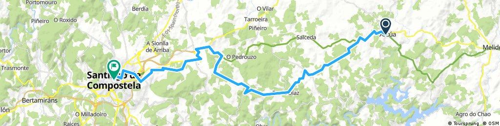 Pilgertour Rad Strecke 13 Arzua - Santiago de Compostela