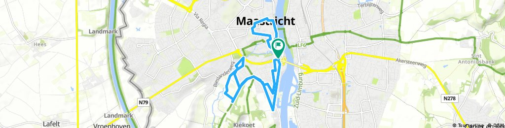 ride through Maastricht