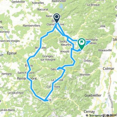 tracé des Vosges