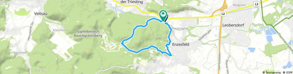 Kurze Radrunde durch Gemeinde Hirtenberg